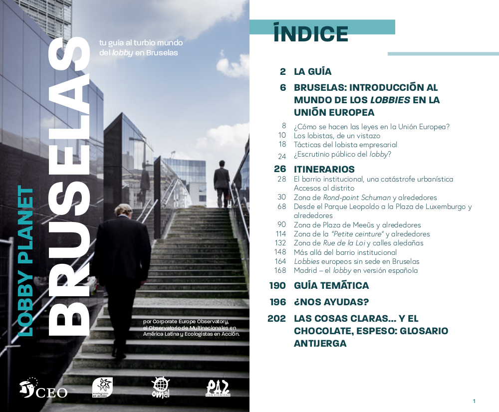 Lobby Planet Bruselas  cover + index