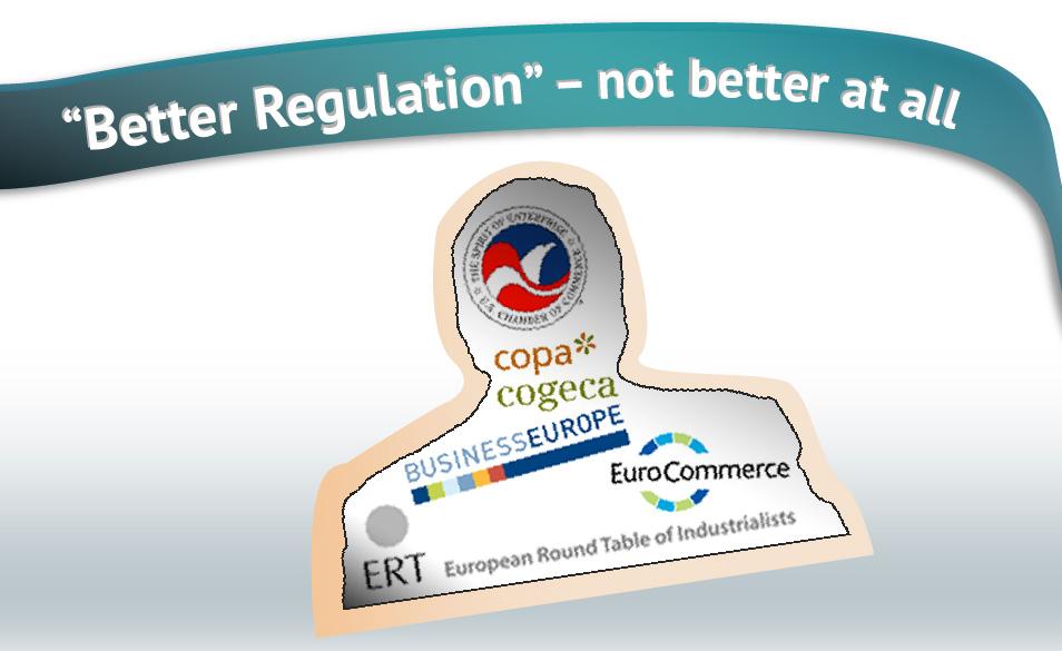 Better Regulation lobbyists