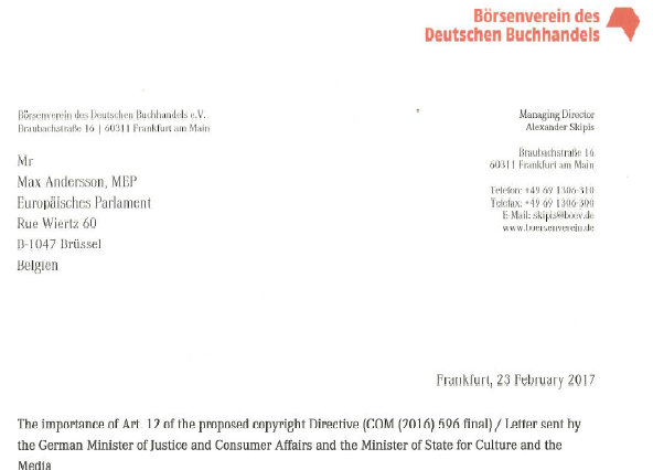 Letter BdDB, 23 February 2017