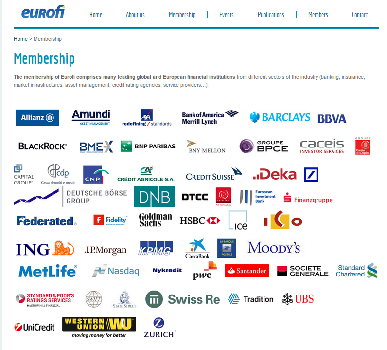 Eurofi members