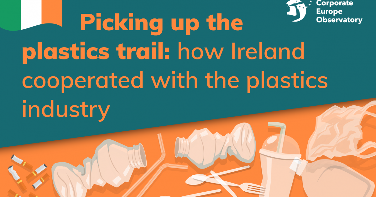 Picking Up The Plastics Trail How Ireland Cooperated With The Plastics Industry Corporate Europe Observatory Dialing format for calls to a cell phone: plastics industry