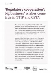 Regulatory cooperation in TTIP and CETA