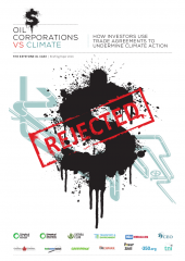 Oil companies vs climate - report cover