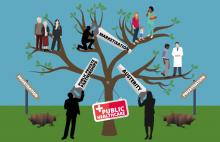 The threats to public healthcare (cartoon)