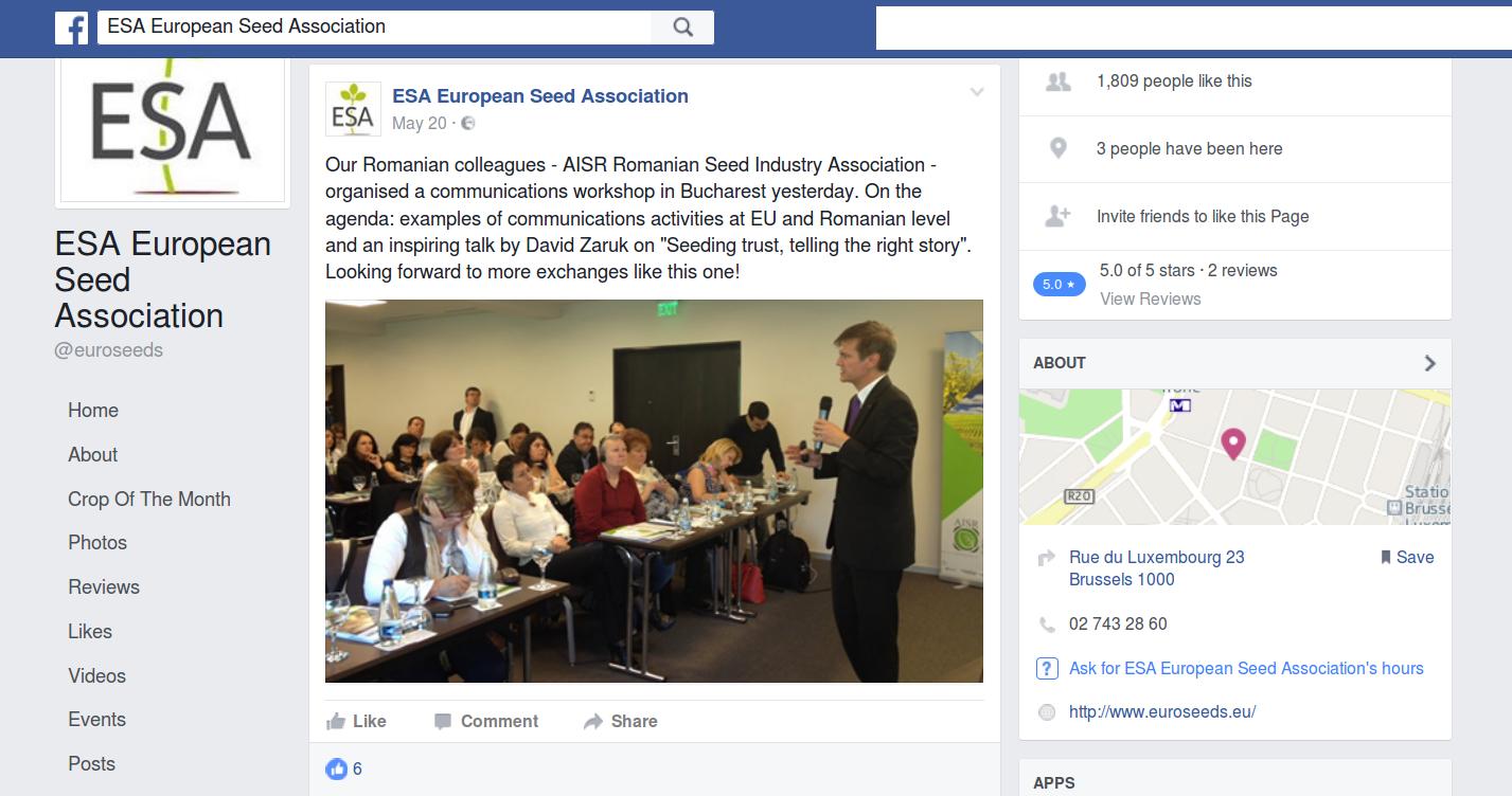 Zaruk in Bucharest (Romanian seed industry association)